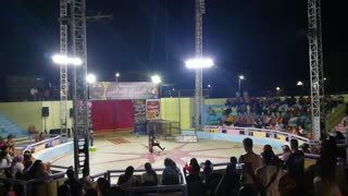 Guy Survive Deadly Cobra Snake In World Night Circus