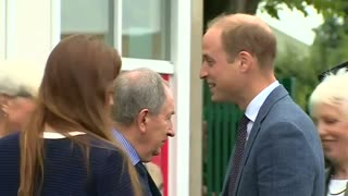 Prince William to the rescue of fallen dignitary  - Video