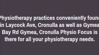 physiotherapy cronulla - Video