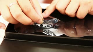 How to Apply Delicate Wings | Bling Art Plus Body and Clothes Swarovski Crystal Tattoos - Video