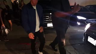 Nick Jonas leaving Rhianna's private new album art viewing - Video