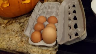 Hen Lays Rare Gigantic Egg For Halloween - Video