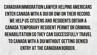 entering Canada with a DUI