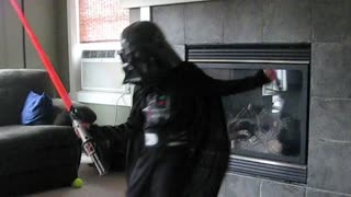Darth vader shows off his dance moves