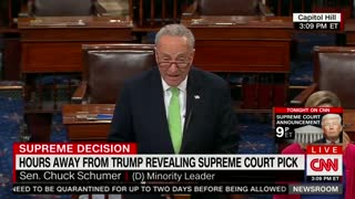 Watch Schumer Whine How Trump Didn't Consult Him On SCOTUS Pick - Video