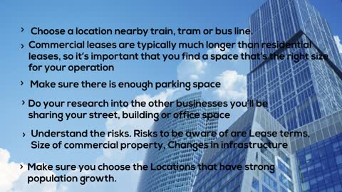 Key checklist to look for while investing in a commercial property at Woolner,