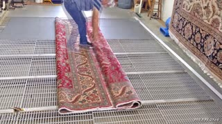 The PetPeePee company | cleaning a wool-silk Oriental rug Mr. Anderson Texas
