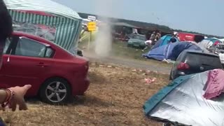 Mini Tornado at Sputnik Spring Break Festival - Video
