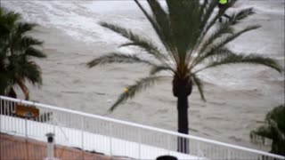 Man Swept Away in Flood - Video