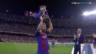 FC Barcelona Spanish Super Cup victory celebration - Video