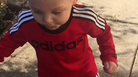 Toddler Dances to Dubstep in Backyard