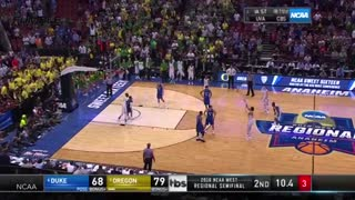 Coach K Lectures Oregon's Dillon Brooks, Lies About It