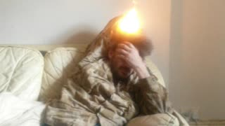 Hair Catches on Fire - Video