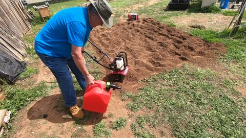 """Honda 9"""" Rototiller and the Tater Patch"""