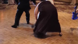 Father And Daughter Do Elaborate Wedding Mashup Dance - Video