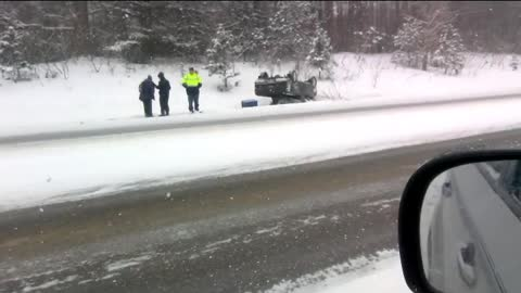 can't figure out how this ford ranger rolled over Northern mi winter accidents