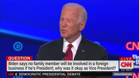 Anderson Cooper Asks Biden Why Trump 'Falsely Accused' His 'Son