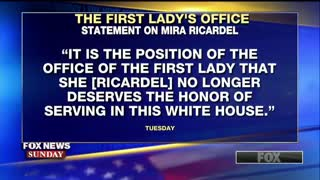 President Donald Trump evaluates Mira Ricardel