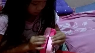 Cute baby reactions when get a new toys
