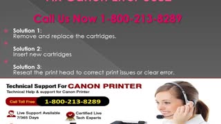 1-800-213-8289 Canon Printer Error u052 - Video