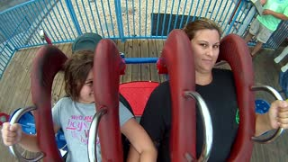 Amazing Slingshot Thrill Ride With Daughter