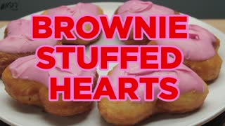 How To Make Brownie Stuffed Hearts - Full Recipe - Video