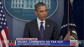 Obama Touts Tax Cut - Video