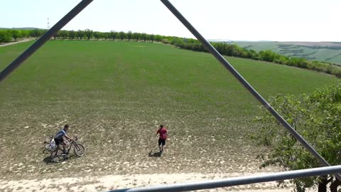 Drone Picks Up Bicycle