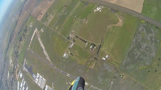 Skydiver Pounds the Ground