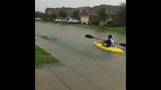 Massive Flooding In Humble, Texas - Video
