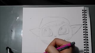 Speed drawing: Cute elf - Video