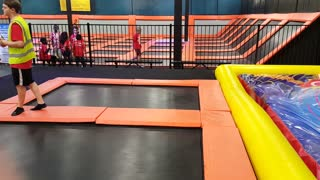 Girl Jumps On A Trampoline And Then Suddenly Disappears - Video