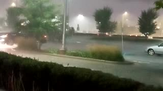 Heavy rainfall and winds with lightning.