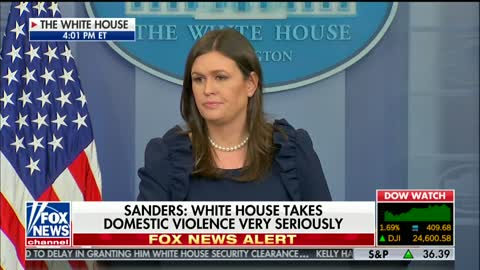 Sarah Sanders Fires Back at Press Leaking Classified Information: 'Look Around This Room'