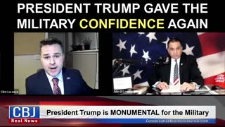 President Trump Gave the Military Confidence Again!
