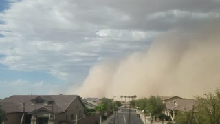 Time Lapse of the Dust Storm Passing Over - Video