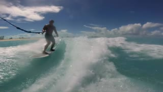 Jojo the Dolphin WakeSurfing - Video