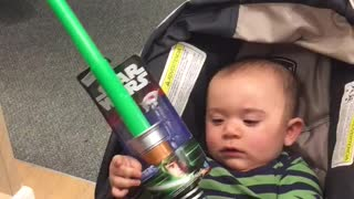 Baby Loves Light Saber - Video