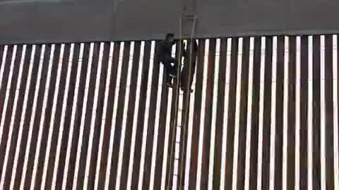 Newly Constructed Border Wall Defeated By Rope And Ladder In Minutes
