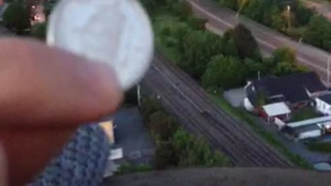 Coin dropped into factory chimney creates bizarre sounds