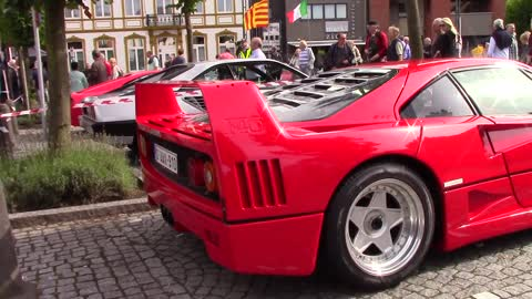 Ferrari F40 visiting Cars & Coffee Peer,Belgium