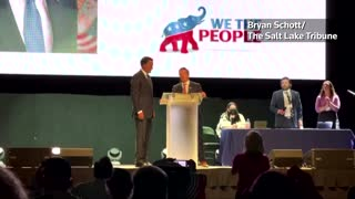 Senator Mitt Romney Booed Off Stage at Utah GOP Convention