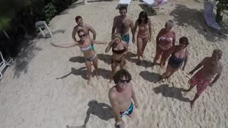 Gopro family beach run faceplant - Video