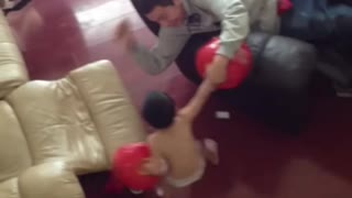 Little kid gets sweet revenge on older brother