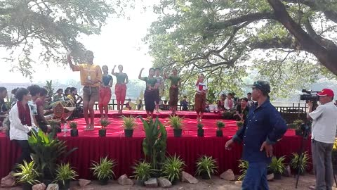 Khmer traditional dance in front of Angkor Vat Temple
