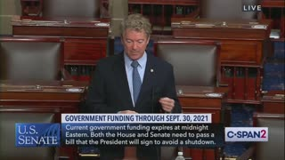 Rand Paul EXPLODES On Senate Floor Over Absurd Stimulus Bill
