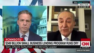 CNN's Tapper gives Schumer platform to defend holding up small business relief