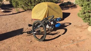 Woman Falls Face First Into the Ground Off Mountain Bike - Video