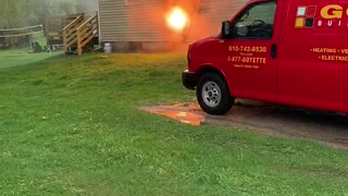 Electrical Short Starts House Fire
