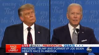 Trump's taking biden down for real